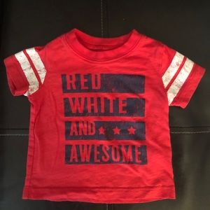 """Carter's """"RED, WHITE AND AWESOME"""" Graphic Tee-6M"""